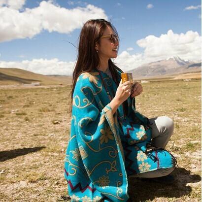 Тибет / непал подсолнечника цветы цветочные шерсть платки супер долго сгущать шерстяной шарф платок из индии W1040