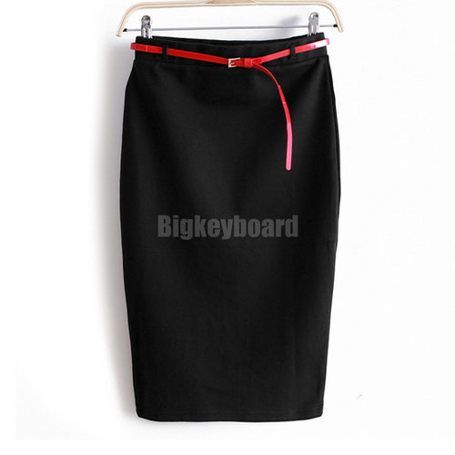 Мода лето женщин дамы высокая талия миди карандаш шорты юбка Bodycon тонкий трубки стретч Saias юбки