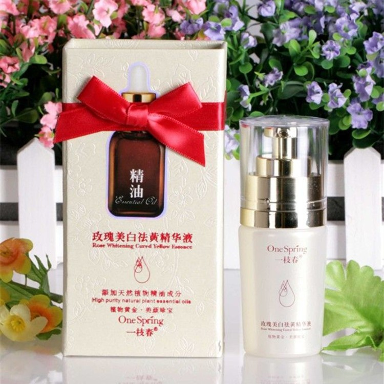 2015 Special Offer Sale free Shipping Authentic Quality Washed Rose Essential Oil Skin Whitening Essence Remove Yellow Xiaoban(China (Mainland))