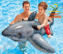 Inflatable Shark Rider With Two Handles 173*107cm Summer Toys For Swimming Fun(China (Mainland))