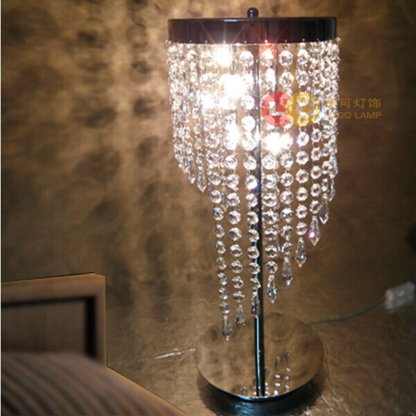 Free shipping bedroom lamp led crystal lamp desktop for 12v table lamp