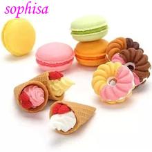 День святого валентина подарки / французский десерт мороженое круг хлеб мэлоун ластик / съёмный резина полирование / ластики