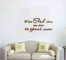 Buy god closes one door opens another home decoration wall art decals living room decorative stickers quote for $4.69 in AliExpress store