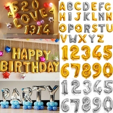 "1pc 42"" Large Gold/Silver Alphabet A-Z foil Letters number 0-9 Balloons New Year Birthday Party Wedding Decoration love Balloon(China (Mainland))"