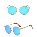 2017 Women s Glasses Metal Lens Vintage Fashion Mirrored Sunglasses Eyewear New