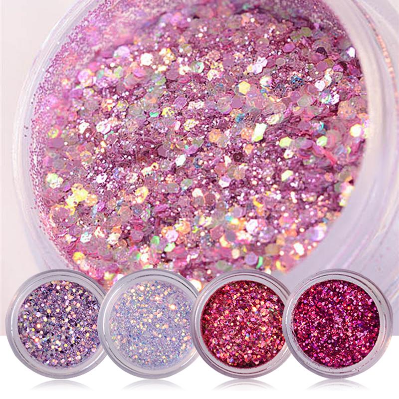 15g/Box Shiny Nail Glitter Powder Red Pink Purple Nail Sequins Paillette Manicure Nail Art Decoration # 36685(China (Mainland))
