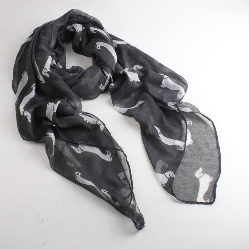 new fashion 10 color Animal Dachshund Dog Print Scarf Pashmina women scarves(China (Mainland))