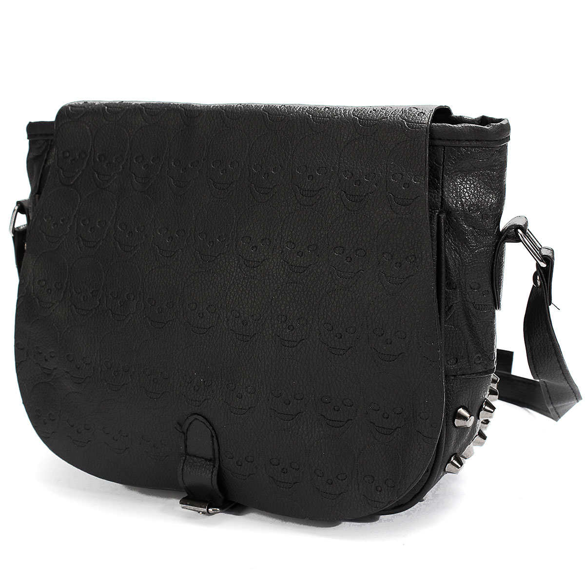 Black Women Shoulder Crossbody Bags Skull Leather Lady Handbags Retro Vintage Style Girls Small Messenger Sling Bag Rivet Bolsa(China (Mainland))