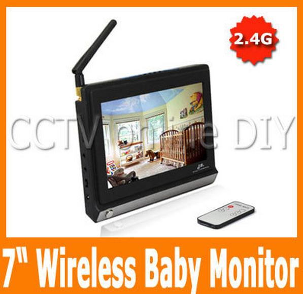 new home security 2 4g wireless monitor 7 inch lcd screen receiver baby. Black Bedroom Furniture Sets. Home Design Ideas