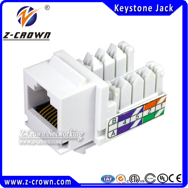 Cat5e UTP 90 degree  Keystone Jack pass fluke test Network connector<br><br>Aliexpress