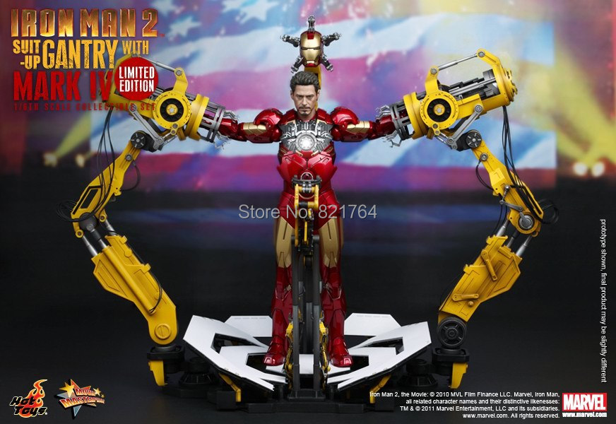 2014 new Hot Toys Iron Man 2: 1/6th scale Suit-Up Gantry with Mark IV Limited Edition Collectible Set<br><br>Aliexpress