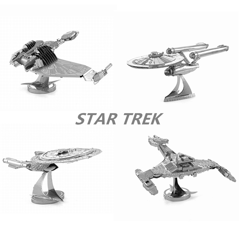 3D Jigsaw Puzzles For Kids Star Trek Metal DIY Scale Model Building Architecture Educational Toy For Children Gifts For Adult(China (Mainland))