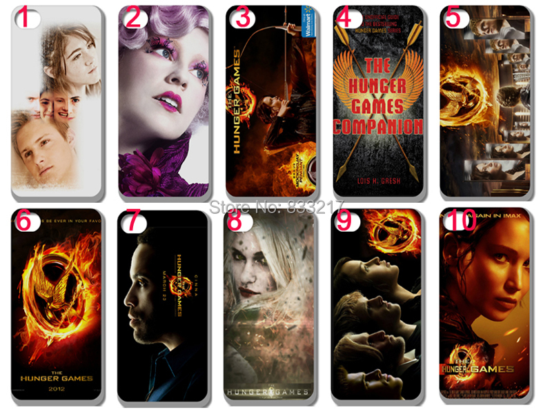 Hot 10 pcs/lots wholesale The Hunger Games hard white case cover for iphone 5 5th 5S+free shipping(China (Mainland))