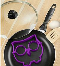 HOT! Breakfast Silicone Owl Animal Fried Egg Mold Pancake Egg Ring Shaper Funny Creative Kitchen Tool(China (Mainland))
