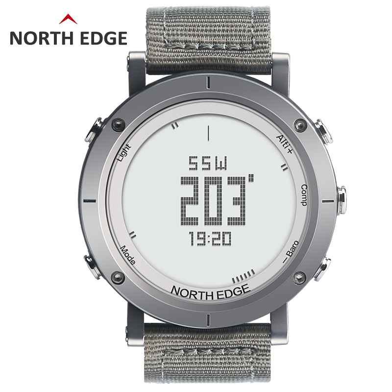 NORTH EDGE Men's sport Digital watch Hours Running Swimming watches Altimeter Barometer Compass Thermometer Weather Pedometer(China (Mainland))
