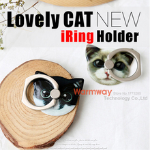Stylish Cat Ring Prop for Phones and Tablets Universal Phone Stand Stylish Design Anti-fall Hot Sale  Finger Grip Phone Holder(China (Mainland))