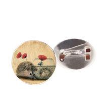 SUTEYI Vintage Hedgehog Spilla Animale Speciale Spilli Vintage Brooches Dei Monili di Bronzo Antico Placcato Del Collare Spille Per Le Donne del Regalo(China)