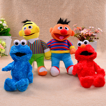 """Sesame Street Large Stuffed Plush Toys Figure 12-13"""" Elmo Cookie Monster Bert and Ernie  Baby Sesame Plush Doll Party Supplies(China (Mainland))"""