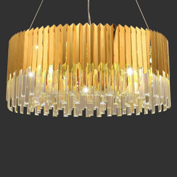 Brief crystal stick pendant light new classic lamp bar counter Size can be customized(China (Mainland))
