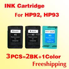 2BK+1Color Excellent ink cartridge compatible HP 92 93 HP92 Photosmart C3140 C3150 C3180 C3100 C3135 freeshipping - KingZ Tech. International store