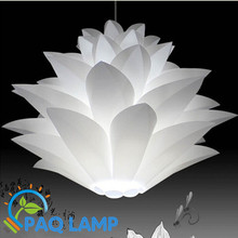Lily flowers lamp pendant light material of  PVC 48CM lotus shape pendent DIY lampshade bedroom/shops LED hanging light fixture(China (Mainland))