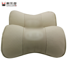DAILEMO Gold Leather Car Headrest 2Pcs/ Seat Neck Support Cover Cushion KIA K2 K3 K4 K5 K9 SportageR - Rain Palais--Store of Product About store