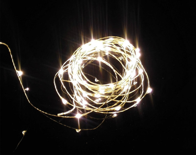 5pcs 5M 50LED DC plug copper wire string lights lighting waterproof LED starry decor holiday ...