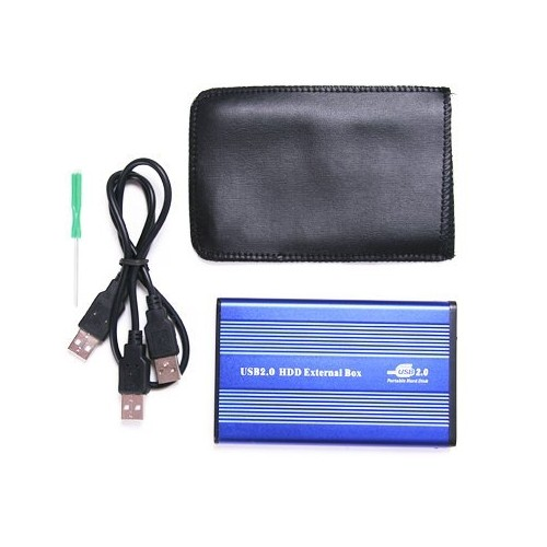 "hot sale! Practical Plastic USB 2.0 External 2.5"" IDE HDD Enclosure Case Blue For Laptop(China (Mainland))"