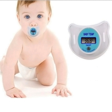1 PC New Portable Digital LCD pacifier thermometer baby nipple soft safe Mouth Thermometer BA021