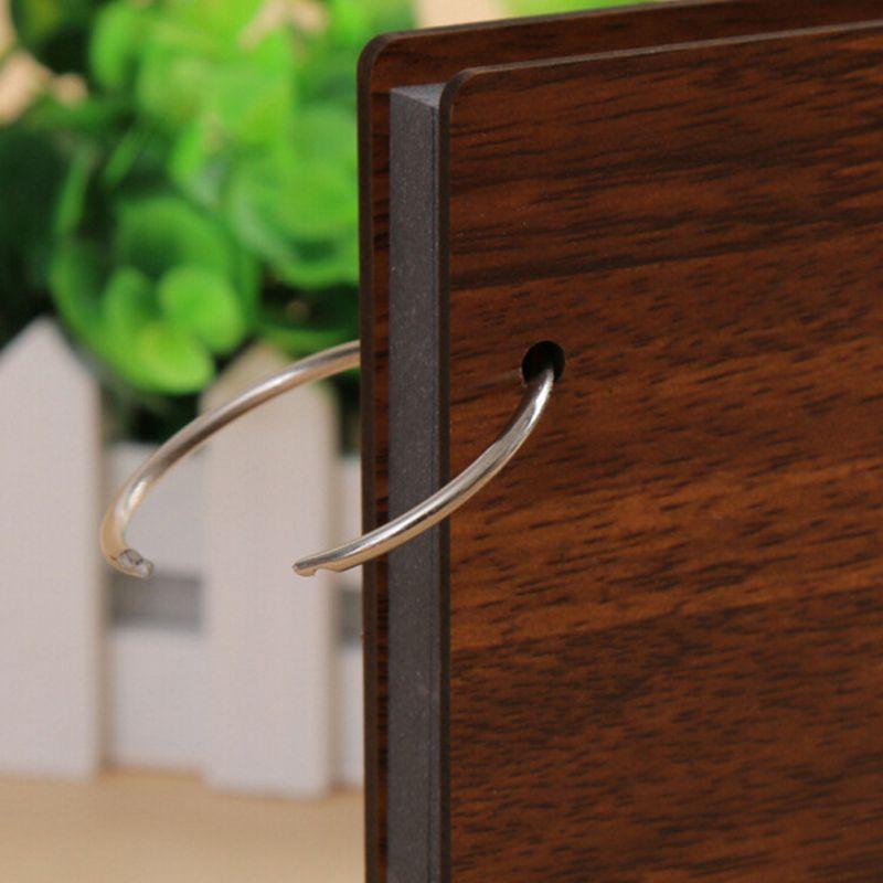 8 inch Wood Creative Commemorative Photo Album Handmade Loose-leaf Pasted Photo Album