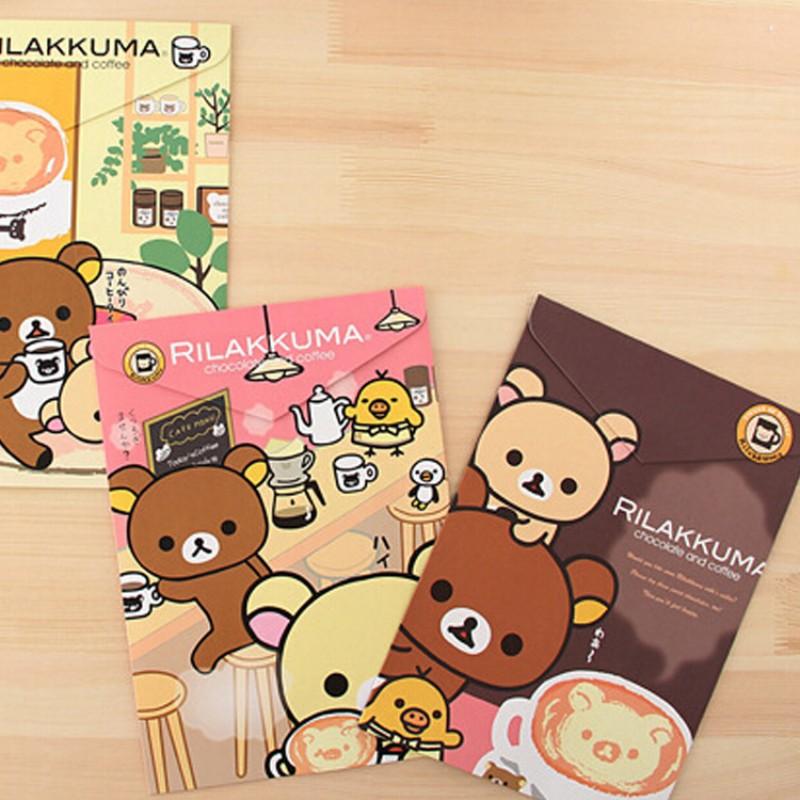 6pcs/lot Cute bear paper A4 file folder Portable document bag for student Kawaii stationery Escolar Office School Supplies Zakka<br><br>Aliexpress