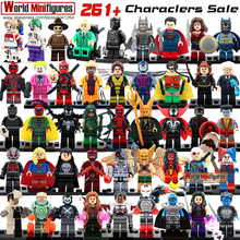 Minifigures For Individually Single Sale Marvel Super Heroes Avengers Batman Building Blocks Model Bricks Toys(China (Mainland))