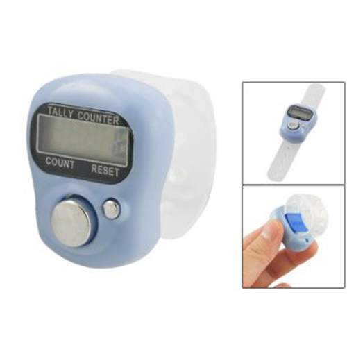 SZS Hot Light Blue Case 5 Digit LCD Electronic Finger Counter Hand Tally(China (Mainland))