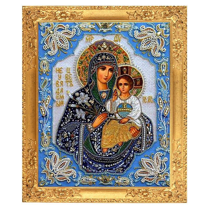 Needlework DIY resin 5D square diamond cross stitch unfinished Diamond painting full embroidery religion Jesus diamond mosaic