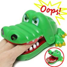 Big Crocodile bouche dentiste Bite Finger Crocodile dents des enfants jeu familial de jouets pour enfants cadeau de noël GS659(China (Mainland))