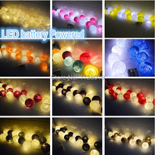 LED battery powered cotton ball string fairy lights , home party patio wedding bedroom decor(China (Mainland))