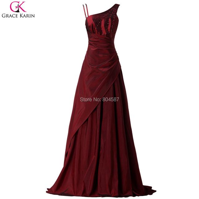 Элегантный грейс карин свадебные платья Noite бургундия бусины обручальное бал платья ...