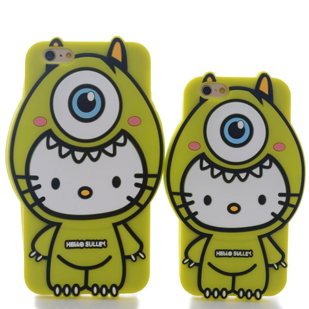 Cartoon Cell Phone Case Green Monster Mike Soft Silicone Cellphone Protection Case For Iphone 6/ Iphone 6 Plus #LN(China (Mainland))