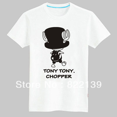 One piece chopper shirts 100 cotton custom logo t shirt Printing your own t shirts