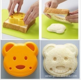 10pcs wholesales cheapest !!! bread toast cutter for breakfast  Dessert sandwich mold east maker bear style Cutter  best gits