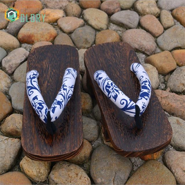 2016 летние мужчины женщины сандалии прохладно японский гета сабо деревянные тапочки ...