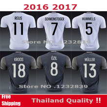 2016 2017 Germany Soccer jersey EURO CUP REUS SCHWEINSTEIGER Germany GOTZE KROOS MULLER OZIL Germany grey Camiseta de futbol(China (Mainland))