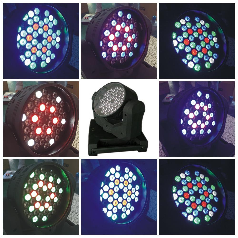 4ps/lot + flight case 54pcs*3W RGBW LED Moving Head Light,54*3W LED Wash Moving Head Light,DMX512 11CH Disko KTV Club DJ Light(China (Mainland))