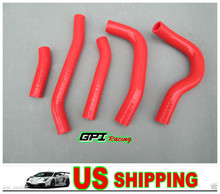 red for  Honda Crf250r Crf 250r Crf250 CRF 250 silicone Radiator Hose 14(China (Mainland))