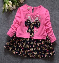 1pcs/lot   2016 Kids Girls 100% cottondress for baby girl free shipping(China (Mainland))