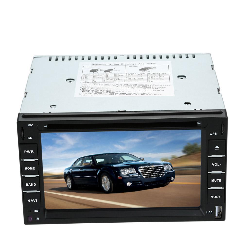 "KKmoon 6"" 2 Din Car DVD USB SD Player GPS Navigation Bluetooth Radio Multimedia HD Entertainment System for Car(China (Mainland))"