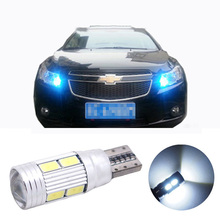 2pcs led W5W T10 canbus Car Light with Projector Lens for chevrolet cobalt orlando spark cruz captiva lacetti niva aveo  cruze(China (Mainland))