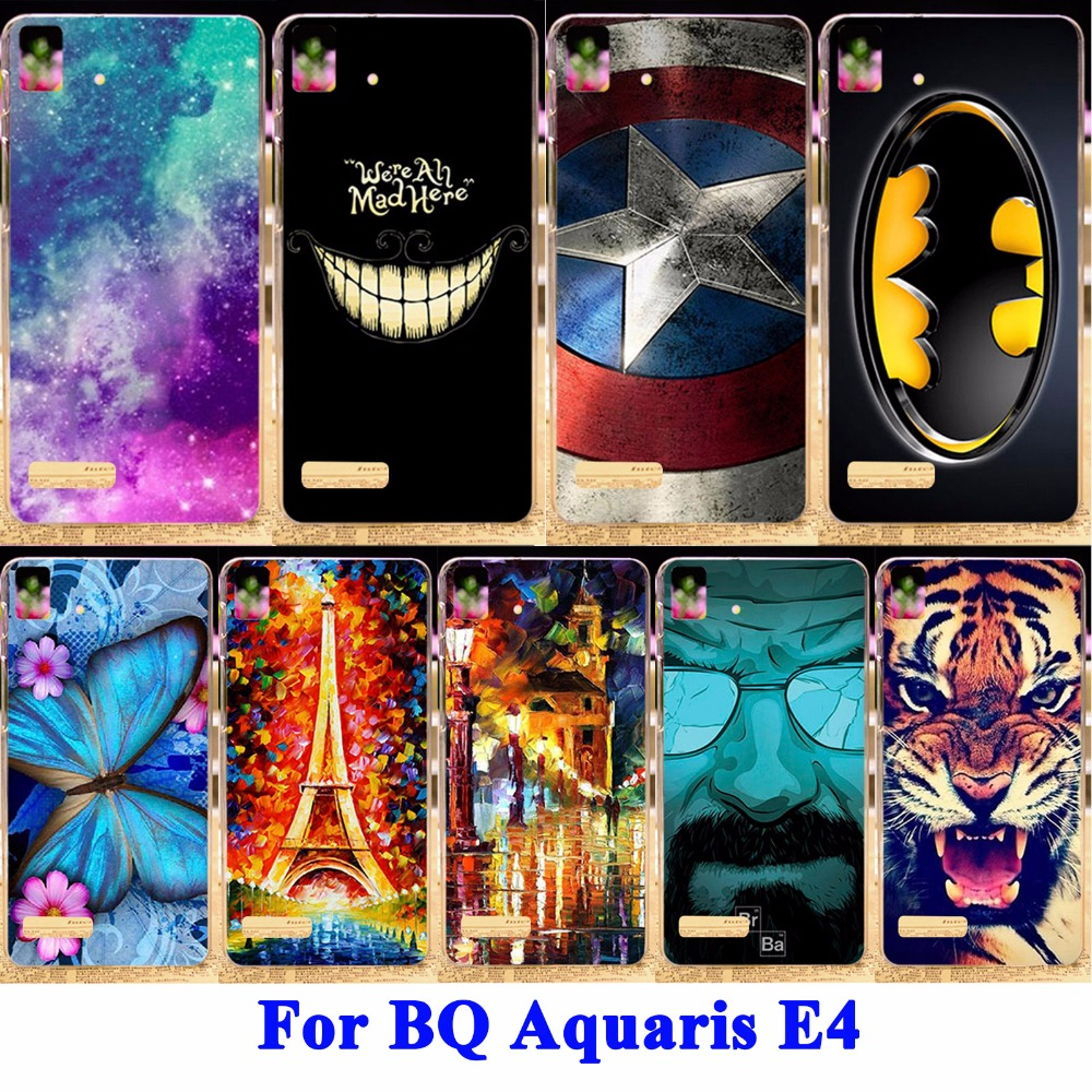 Case For Bq Aquaris E4 Pc Back Cover Mobile Phone Bags & Cases 2015 Real 22 Pattern New Fashion Coloured Painting(China (Mainland))