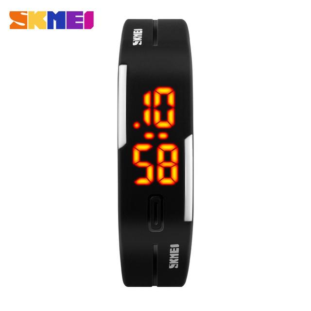 SKMEI 1099 Часы Женщины Спортом Бег Цифровые Часы Силиконовой Лентой Дата Время Женщин Наручные Часы Relógio Feminino