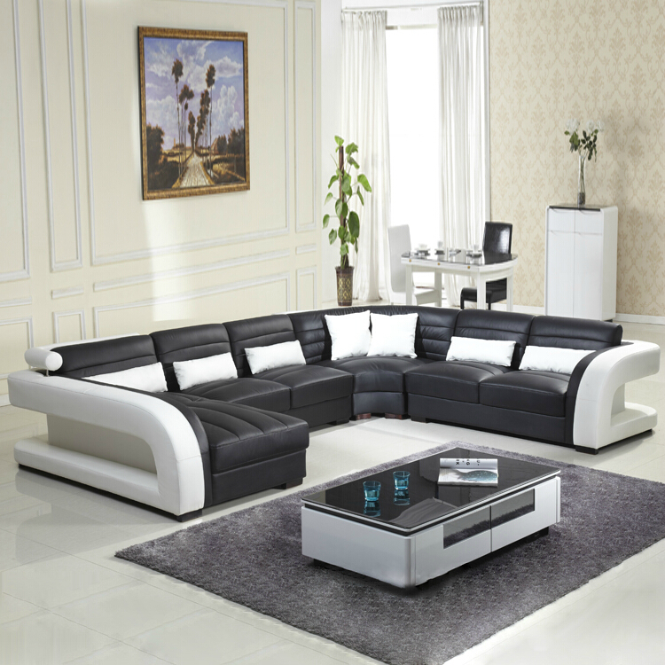 2016 new style modern sofa hot sales genuine leather sofa living room furniture wholesale and - Modern living room furniture set ...